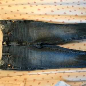True skinny high rise blue jeans from Gap